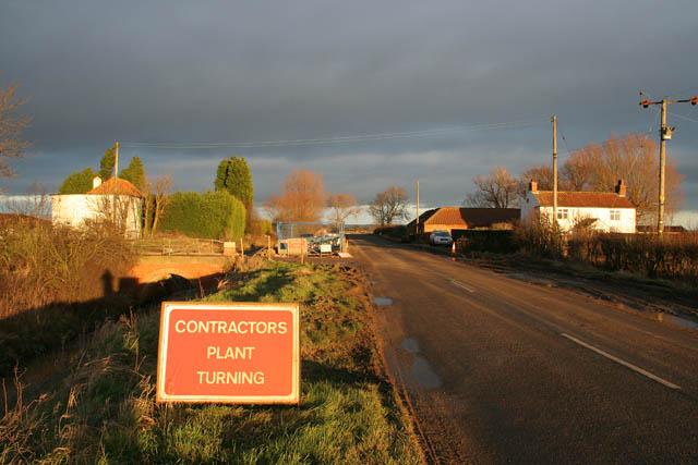 Road works on Common Lane
