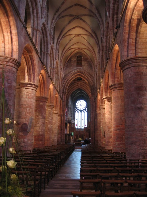 Kirkwall, inside the Cathedral of St Magnus