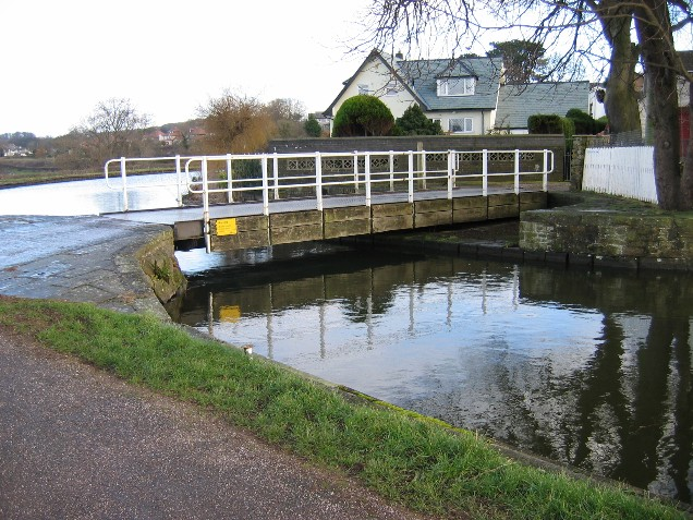 Swing bridge over Lancaster Canal