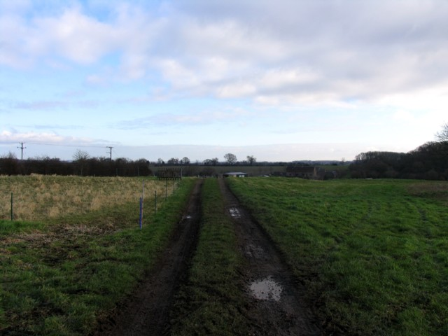 Track towards Fishpool Grange