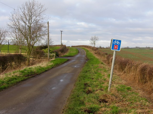 Route 6 passes Harborough Farm
