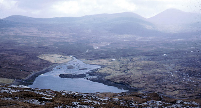 West from the summit of Beinisbhal over the head of Loch Resort