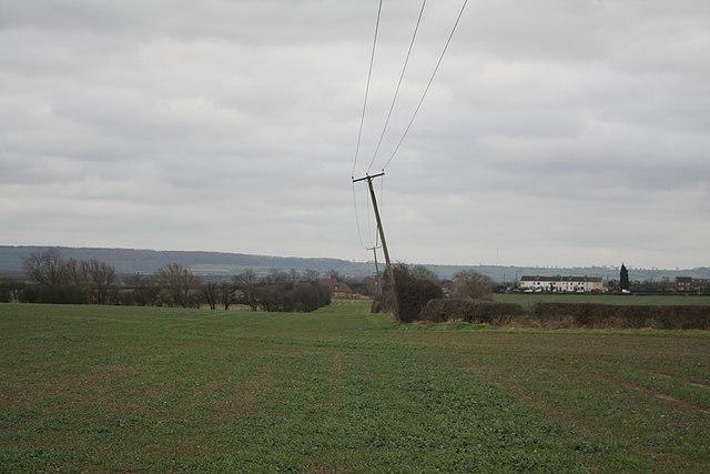 Railway cutting and overbridge