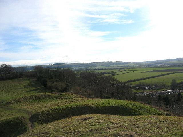 View from Totternhoe Castle