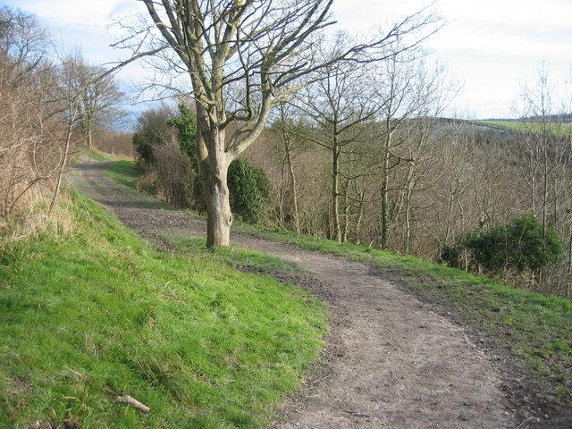 Footpath along the Knolls
