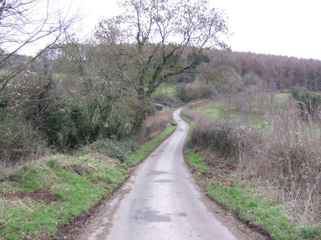 Lane to Penallt church