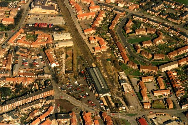 Aerial view of Beverley Railway Station
