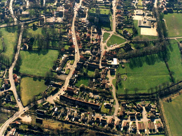 Aerial view of Hedon from the North
