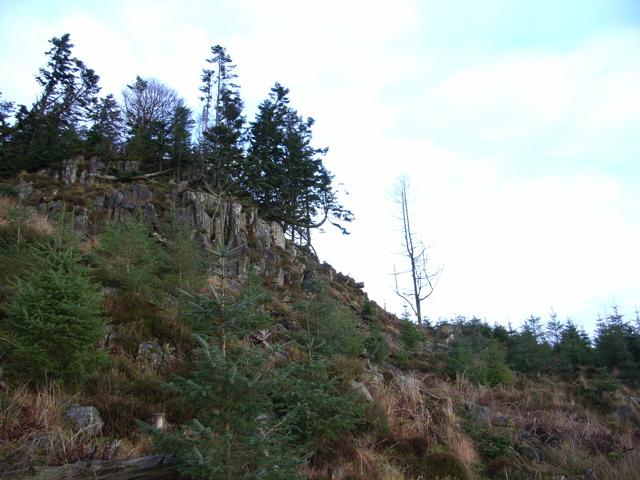 Outcrop at Barr a Churn 174m