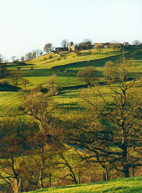 Middlesmoor Church, perched on the ridge