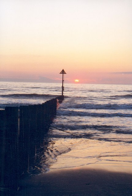 Sunset from Borth Beach