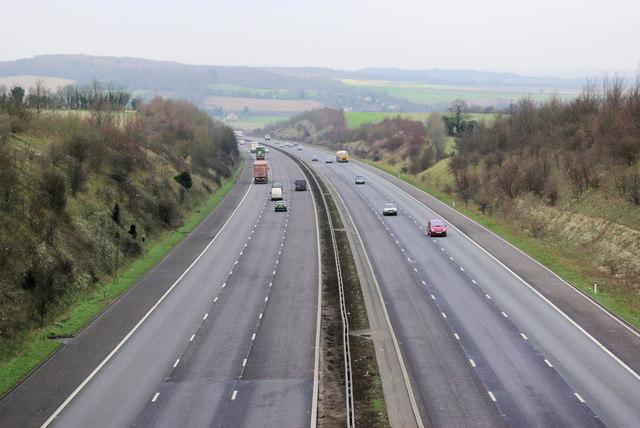 M20, towards London