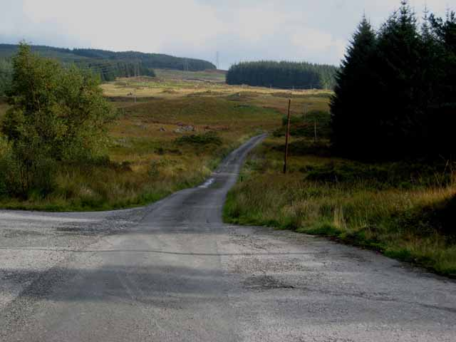 Road head, Clatteringshaws Forest