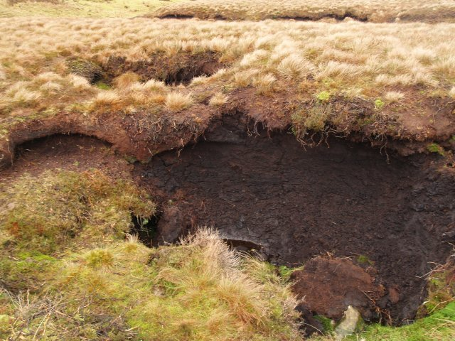 Eroded peat drain hole, South Grain