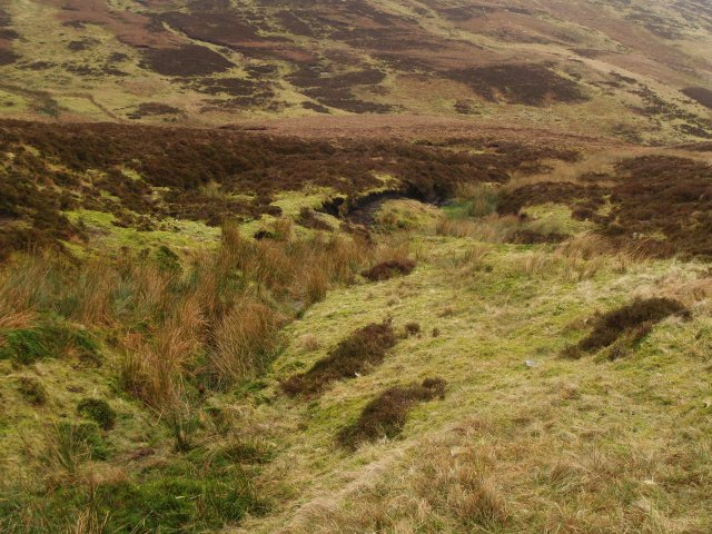 Water channel, peat hagg.