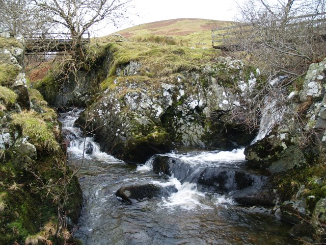 Confluence, North and South Grains, Chapelhope Burn