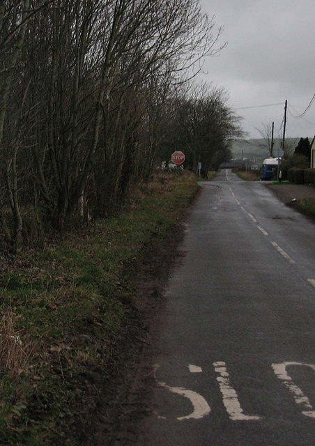 The Ecclefechan to Annan road at crossroads near to Brydekirk