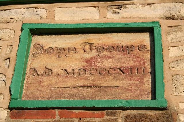 Thorpe House date stone