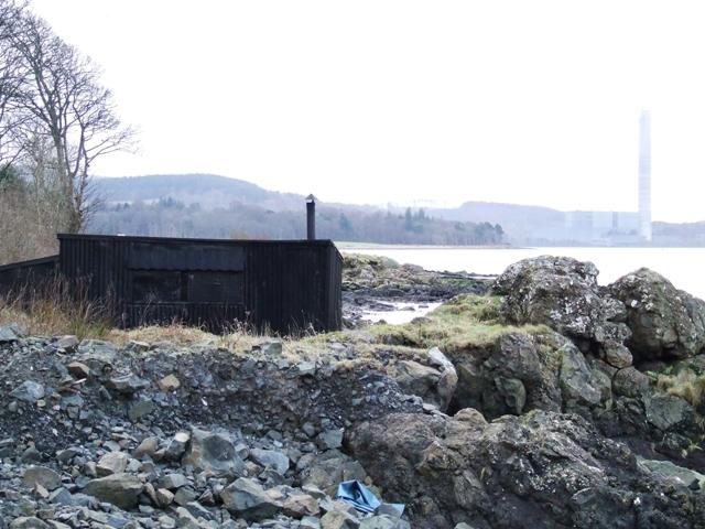 Beach Hut on Cloch Shore