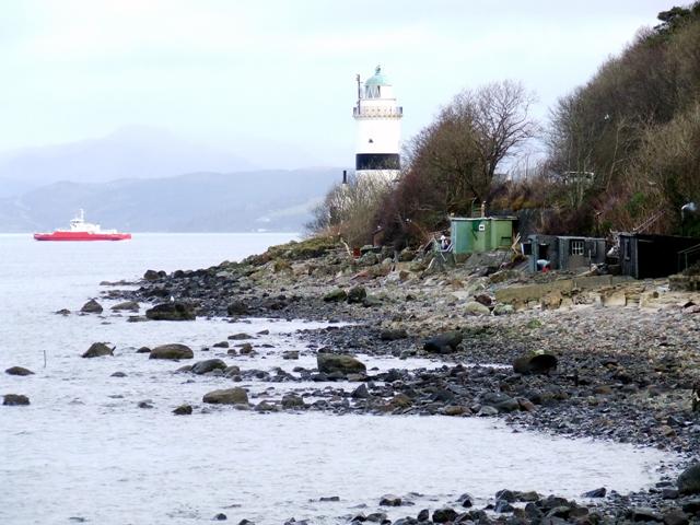 Beach Huts on Cloch Shore