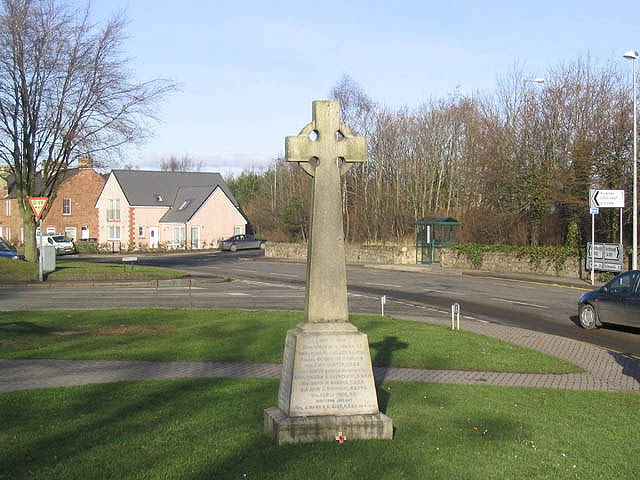 The war memorial at Newtown St Boswells