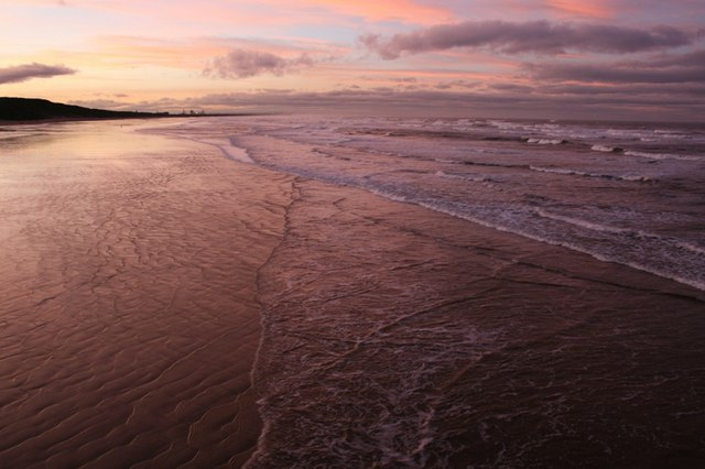 Rising Tide, Saltburn Sands, Sunset