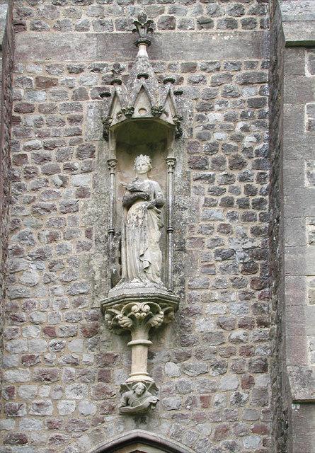 St Catherine, Kingsdown, Kent - Statue