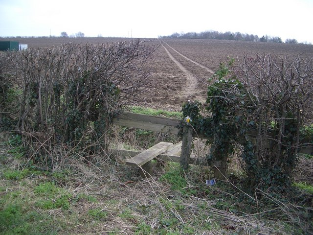 Stile & Footpath at Clifton Pastures