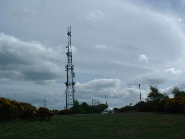 Communications mast on Brusselton top.