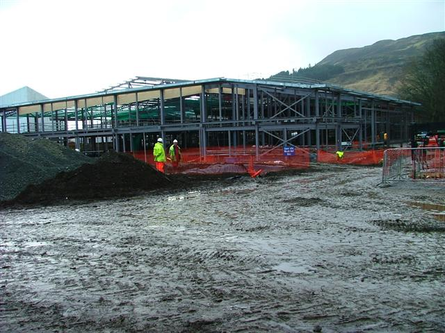 Building of the new Portree High School