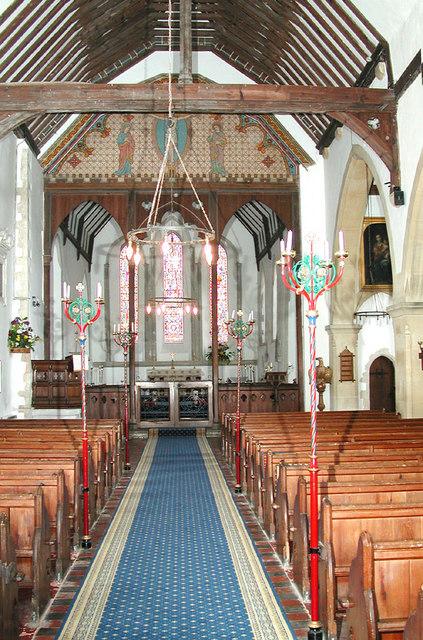 St Lawrence, Godmersham, Kent - East end