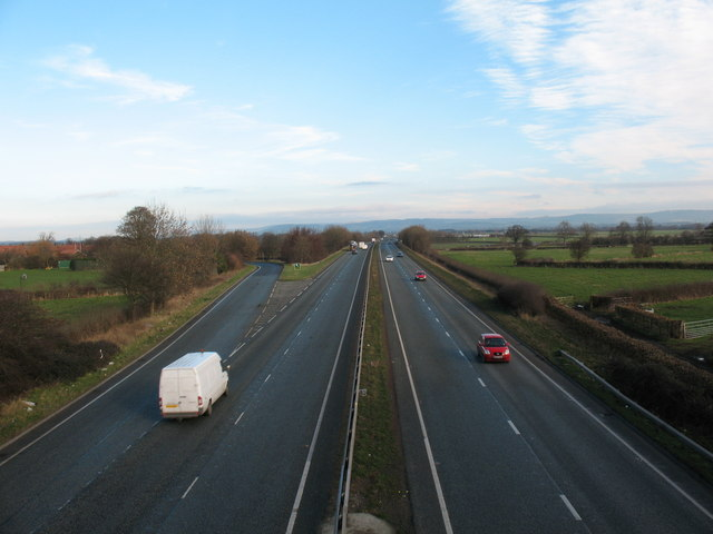 The A168 at Topcliffe