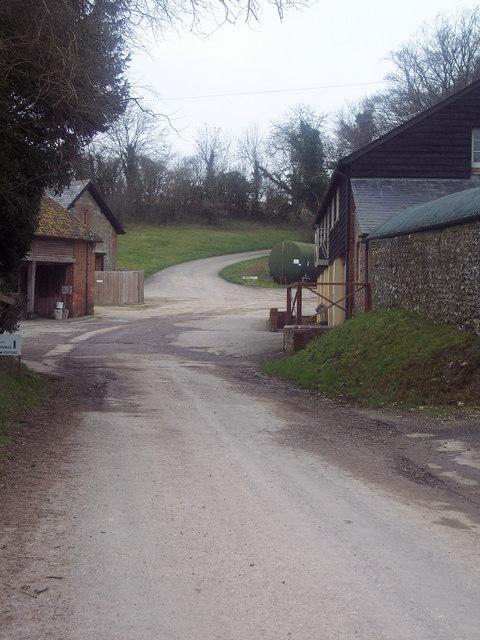 Bridleway at Chalk Pyt Farm