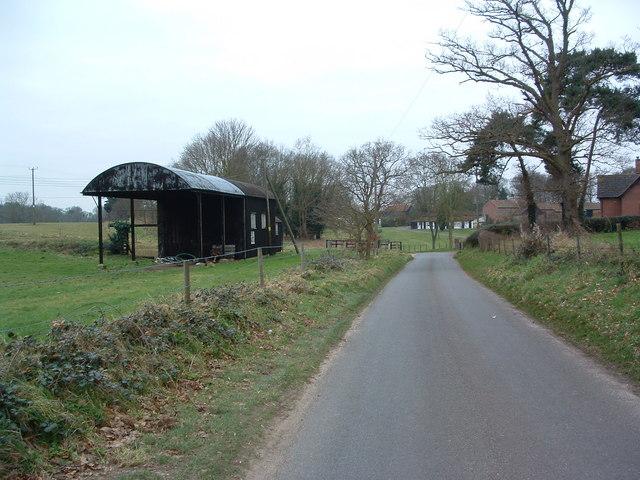 Field Barn And Lane