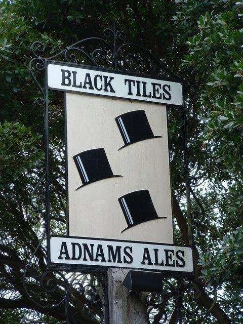 Black Tiles Sign