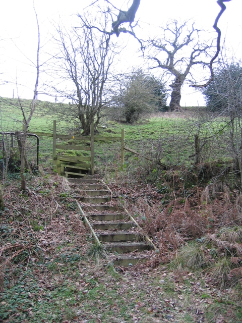 Steps and Stile above Nant-y-Fflint