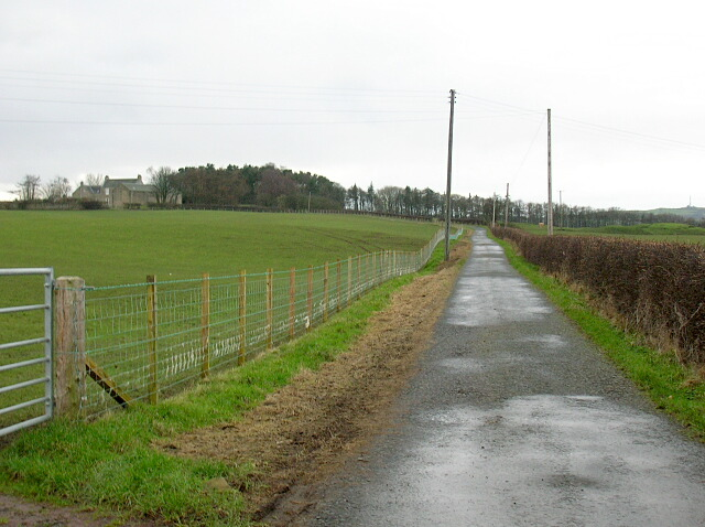 Track Leading to Townend of Caprington