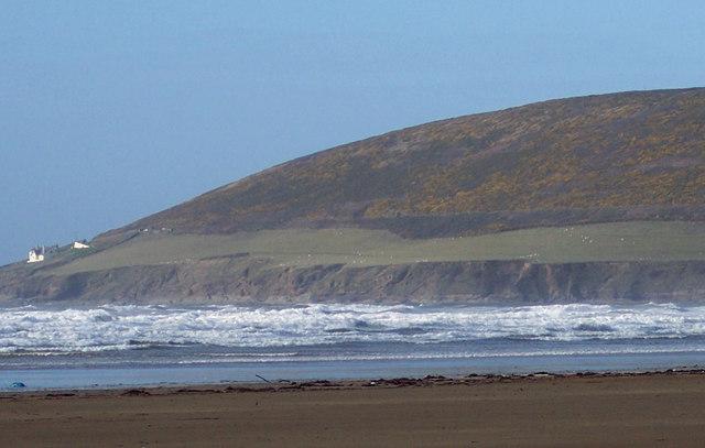Gorse covered hills from Saunton Beach