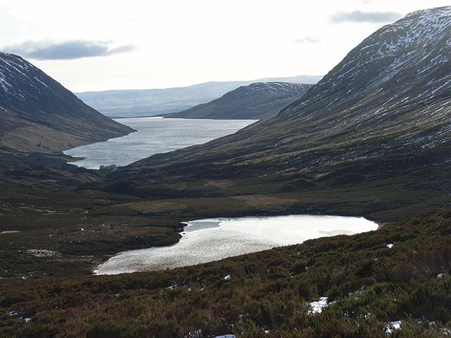 Lochan Uaine and Loch Turret