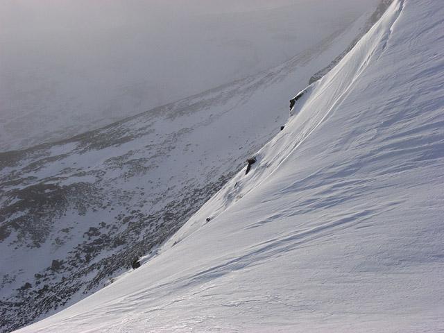 Snowy edge on Ben Chonzie
