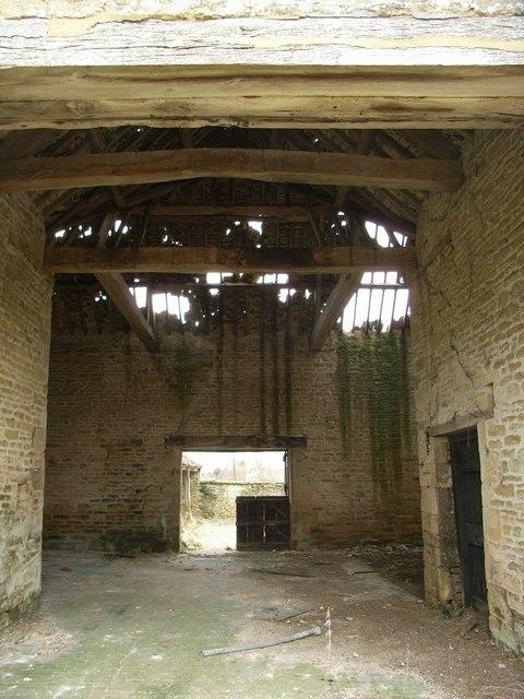 Interior of derelict barn 1