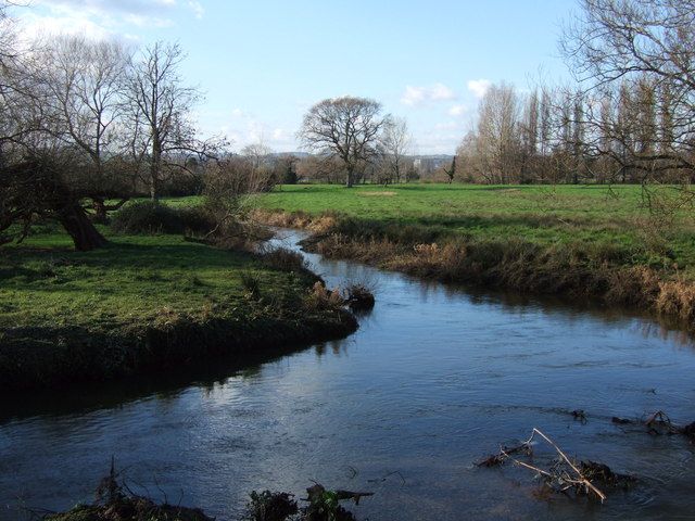 Stream junction at Countess Wear
