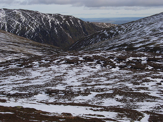 The flanks of Meall na Seide