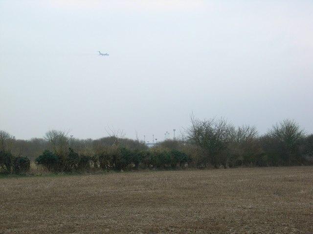 Aeroplane above Brize Norton