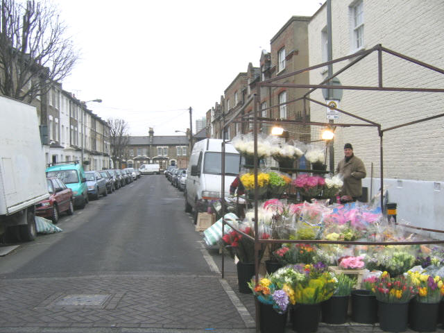 Flower sellers, Colestown Street, Battersea