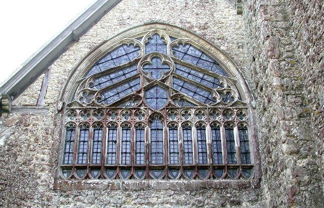 St John the Baptist, Mersham, Kent - West window