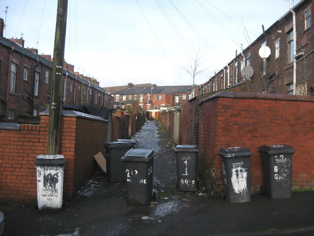 Rear of Horsedge Street and Briscoe Street  Oldham