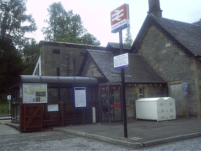 Entrance to Dunkeld and Birnam Railway Station