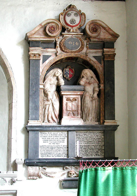St Mary, Smeeth, Kent - Wall monument