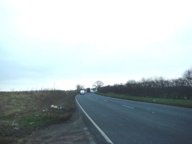 The A635 Marr, looking West.